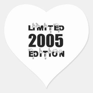 LIMITED 2005 EDITION BIRTHDAY DESIGNS HEART STICKER