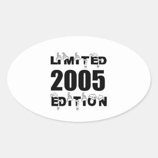LIMITED 2005 EDITION BIRTHDAY DESIGNS OVAL STICKER