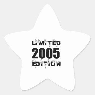 LIMITED 2005 EDITION BIRTHDAY DESIGNS STAR STICKER