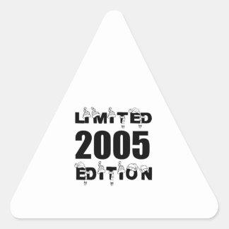 LIMITED 2005 EDITION BIRTHDAY DESIGNS TRIANGLE STICKER