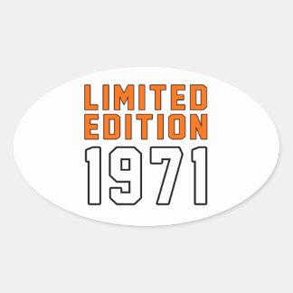 Limited Edition 44 Birthday Designs Oval Sticker