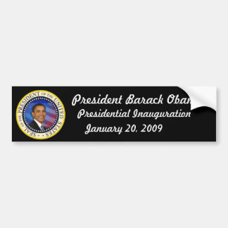 LIMITED EDITION Obama Inauguration COLLECTORS Bumper Sticker
