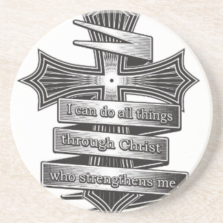 Limited Edition Philippians 4:13 Christian Bible Coaster