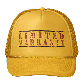 Limited Warranty Sayings Collection Cap
