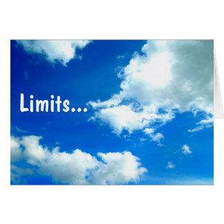 Limits.. Card