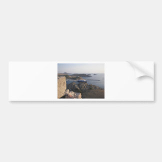 Limnos Ferry From The Hill Bumper Sticker