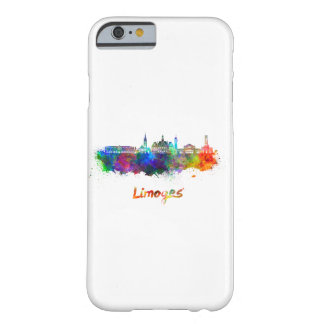 Limoges skyline in watercolor barely there iPhone 6 case