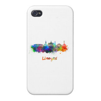 Limoges skyline in watercolor iPhone 4/4S covers