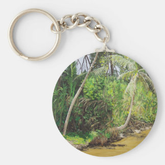 Limon, CostaRica Painting Basic Round Button Key Ring