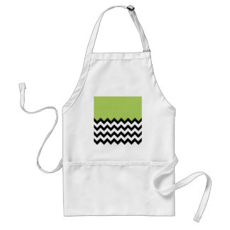 Limonade Green Pattern On Large Zigzag Chevron Standard Apron