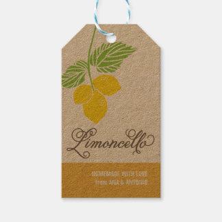 Limoncello Gift Tag, favor tag, hanging tag