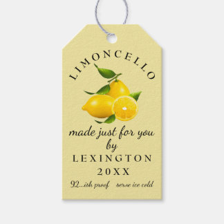Limoncello Gift Tag Homemade |