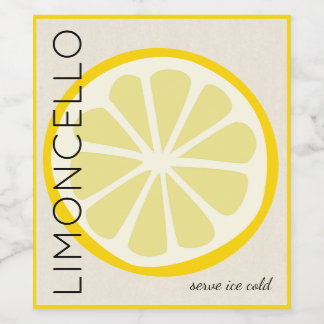 Limoncello Label With Lemon Image |