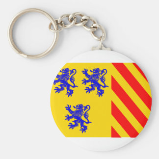 Limousin (Alternate), France flag Key Ring