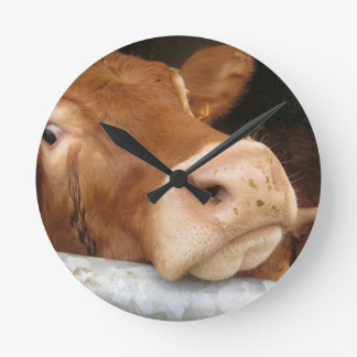 Limousin Cattle (Mad Cow) Round Clock