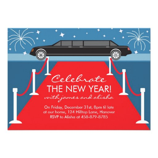 Limousine and Red Carpet Invitations