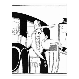 Limousine by Anne Harriet Fish Postcard