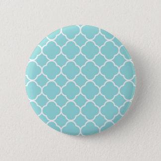 Limpet Shell Blue  Quatrefoil 6 Cm Round Badge