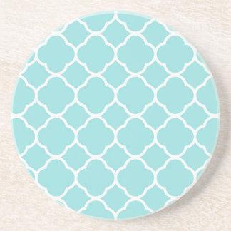 Limpet Shell Blue  Quatrefoil Coaster