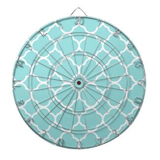 Limpet Shell Blue  Quatrefoil Dartboard