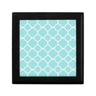 Limpet Shell Blue  Quatrefoil Gift Box