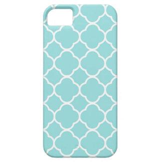 Limpet Shell Blue  Quatrefoil iPhone 5 Case