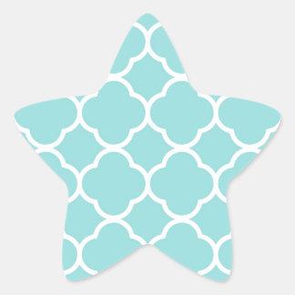 Limpet Shell Blue  Quatrefoil Star Sticker