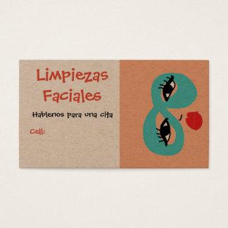 limpiezas faciales, business card
