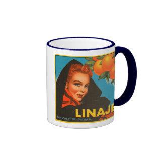 Linaje Brand VIntage Crate Label Coffee Mugs