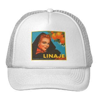 Linaje Brand VIntage Crate Label Trucker Hats
