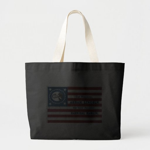 Lincoln and Hamlin Campaign Sign Bag