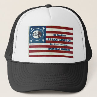 Lincoln and Hamlin Campaign Sign Trucker Hat