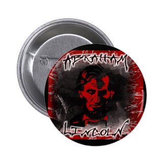 Lincoln Blood-Red Horror Star Buttons