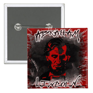 Lincoln Blood-Red Horror Star Pin