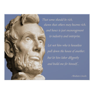 Lincoln Capitalism Quote Poster