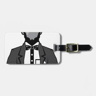 Lincoln cartoon vector luggage tag