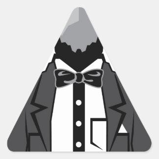 Lincoln cartoon vector triangle sticker
