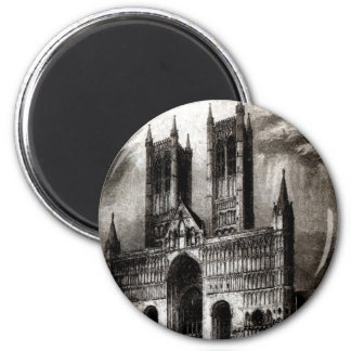 Lincoln Cathedral 6 Cm Round Magnet