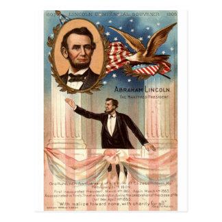 Lincoln Centennial Souvenir, 1908 Vintage Postcard