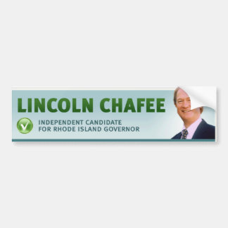 Lincoln Chafee w/ check and profile Bumper Sticker