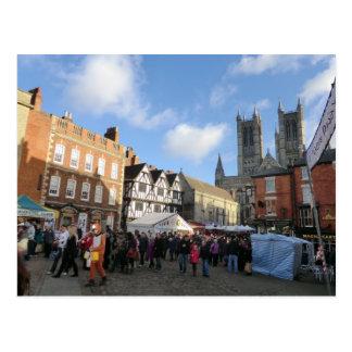 LIncoln Christmas Market Postcard