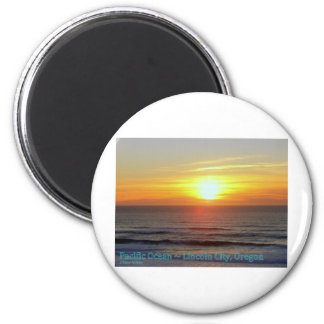 Lincoln City, Oregon - Sunset Magnet