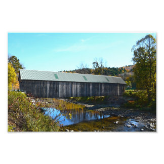 Lincoln Covered Bridge, Woodstock, Vermont Photo Print