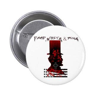 Lincoln Dark Top Hat-Dead White Blue Pins
