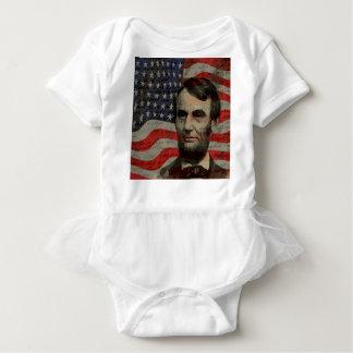 Lincoln day baby bodysuit