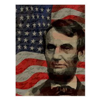 Lincoln day postcard