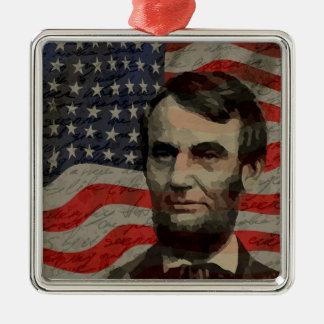 Lincoln day Silver-Colored square decoration
