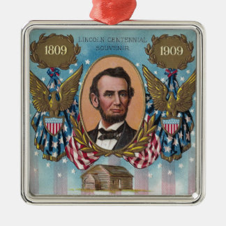 Lincoln, From Log Cabin to White House Metal Ornament