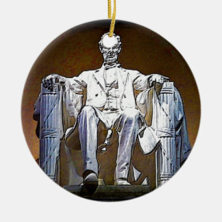Lincoln II Ceramic Ornament