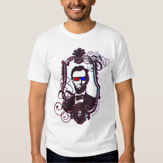 Lincoln in 3D Glasses T-shirt